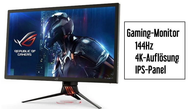 Monitor mit 4K Auflösung und 144Hz Bildwiederholungsrate